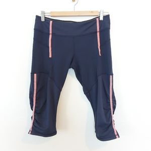 Lululemon Run Crops Navy and Pink